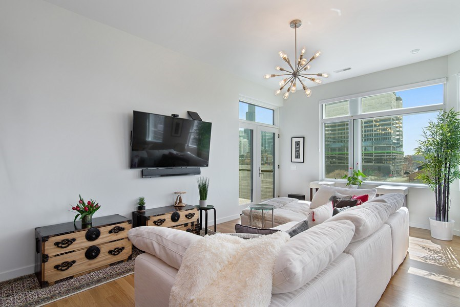 Real Estate Photography - 836 W Hubbard St, Unit 502, Chicago, IL, 60642 - Living Room
