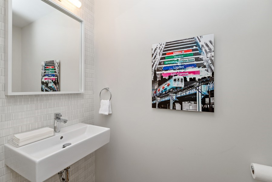 Real Estate Photography - 836 W Hubbard St, Unit 502, Chicago, IL, 60642 - Powder room