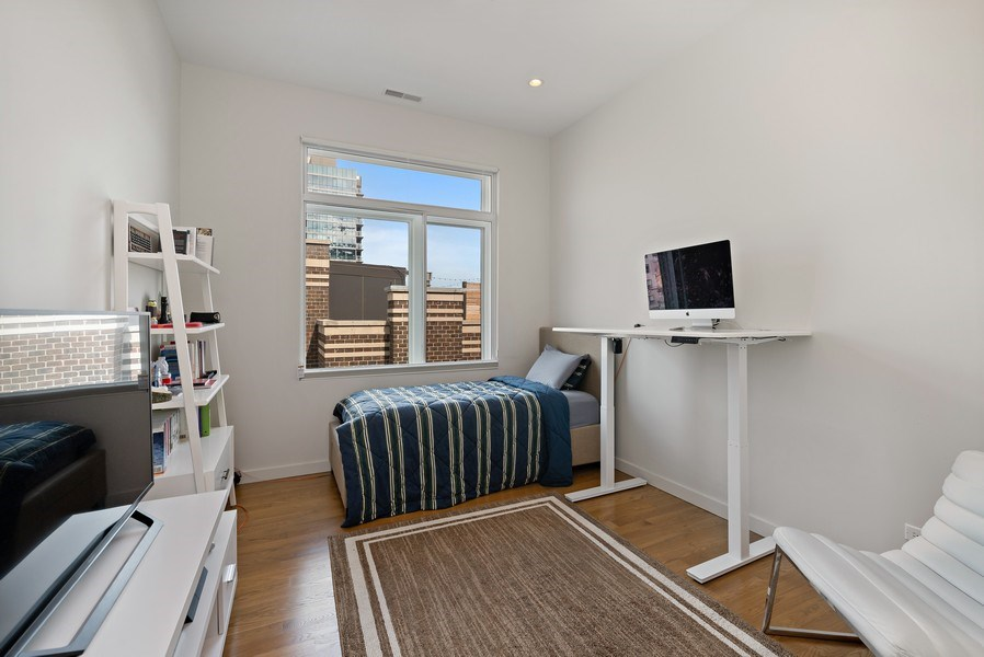 Real Estate Photography - 836 W Hubbard St, Unit 502, Chicago, IL, 60642 - 2nd Bedroom