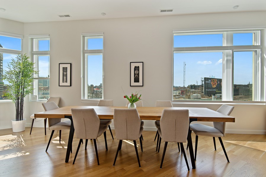Real Estate Photography - 836 W Hubbard St, Unit 502, Chicago, IL, 60642 - Dining Room