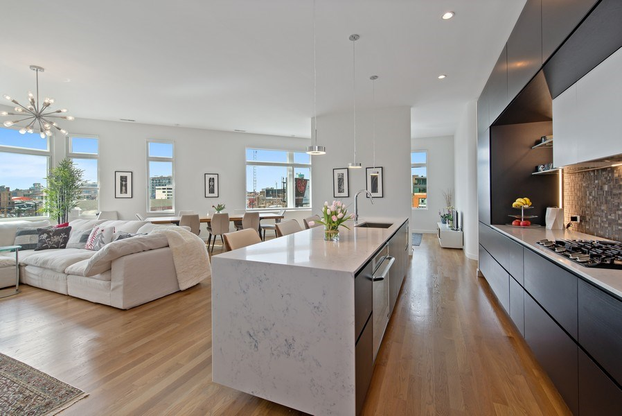 Real Estate Photography - 836 W Hubbard St, Unit 502, Chicago, IL, 60642 - Kitchen