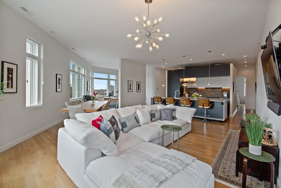Real Estate Photography - 836 W Hubbard St, Unit 502, Chicago, IL, 60642 - Great room