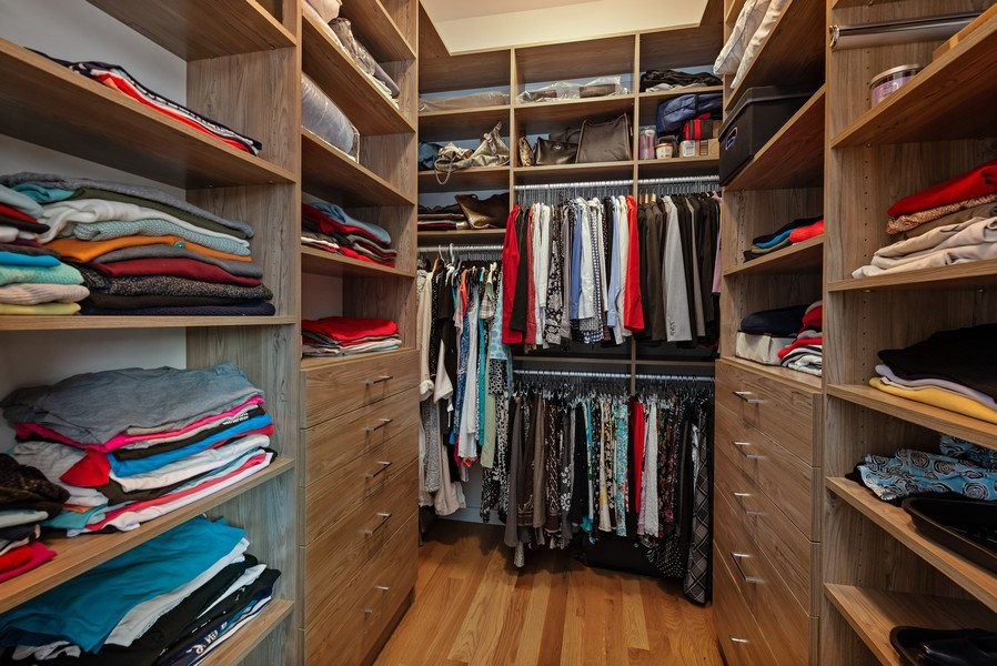 Real Estate Photography - 836 W Hubbard St, Unit 502, Chicago, IL, 60642 - Master Bedroom Closet