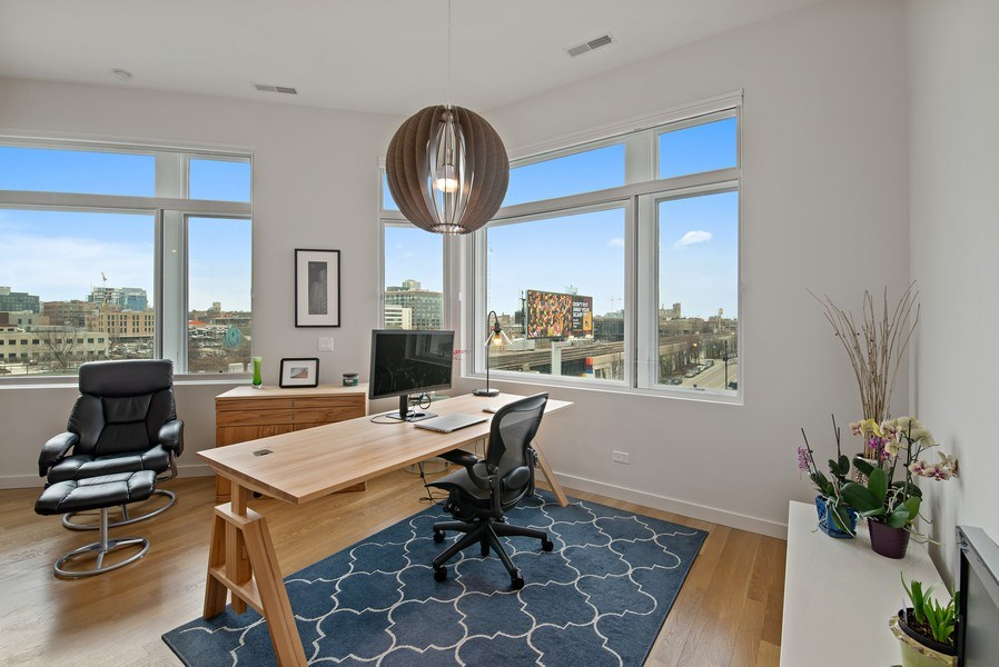 Real Estate Photography - 836 W Hubbard St, Unit 502, Chicago, IL, 60642 - Den/office