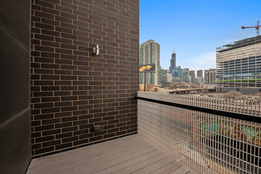 Real Estate Photography - 836 W Hubbard St, Unit 502, Chicago, IL, 60642 - Deck of the living room
