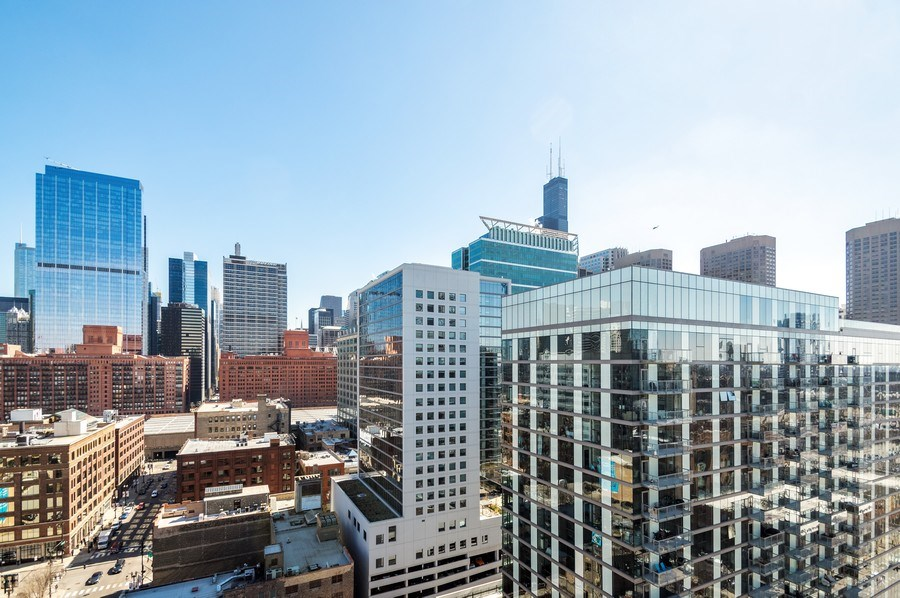 Real Estate Photography - 659 W Randolph, 1801, Chicago, IL, 60661 - View From Unit - Looking East-Southeast