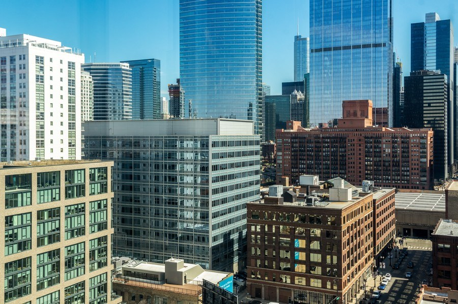 Real Estate Photography - 659 W Randolph, 1801, Chicago, IL, 60661 - View from Living Room