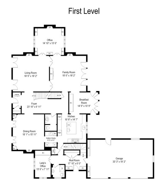 Real Estate Photography - 414 Abbotsford Rd, Kenilworth, IL, 60043 - Floor Plan