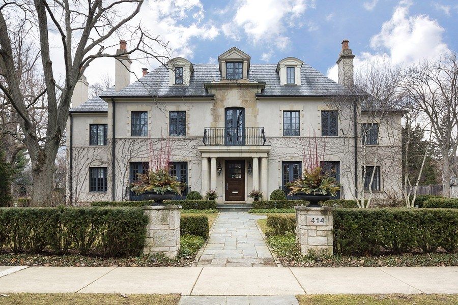 Real Estate Photography - 414 Abbotsford Rd, Kenilworth, IL, 60043 - Front View