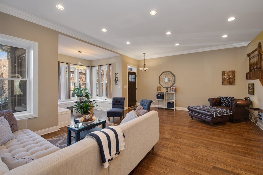 Real Estate Photography - 4825 N Ridgeway Ave, Chicago, IL, 60625 - Living Room