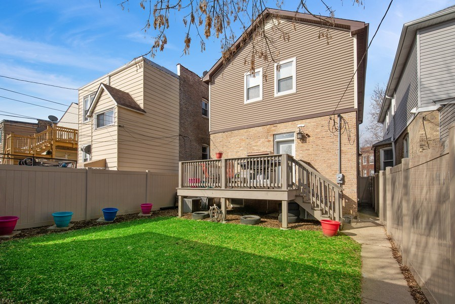 Real Estate Photography - 4825 N Ridgeway Ave, Chicago, IL, 60625 - Rear View