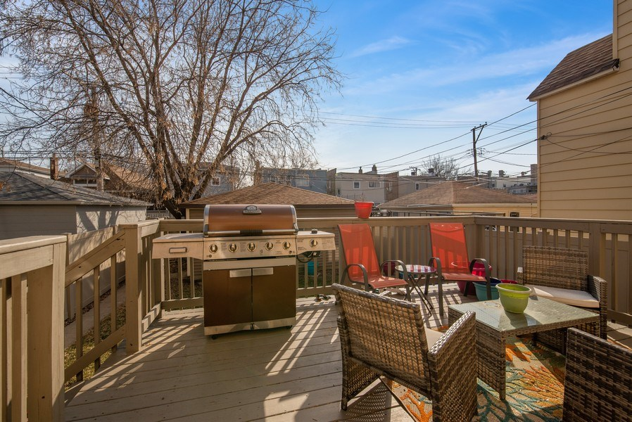 Real Estate Photography - 4825 N Ridgeway Ave, Chicago, IL, 60625 - Deck