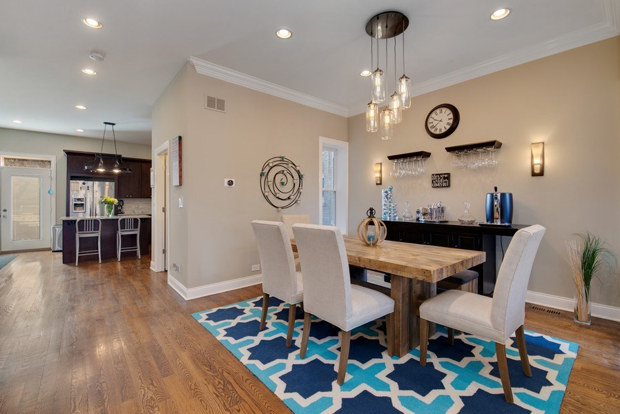 Real Estate Photography - 4825 N Ridgeway Ave, Chicago, IL, 60625 - Kitchen / Dining Room