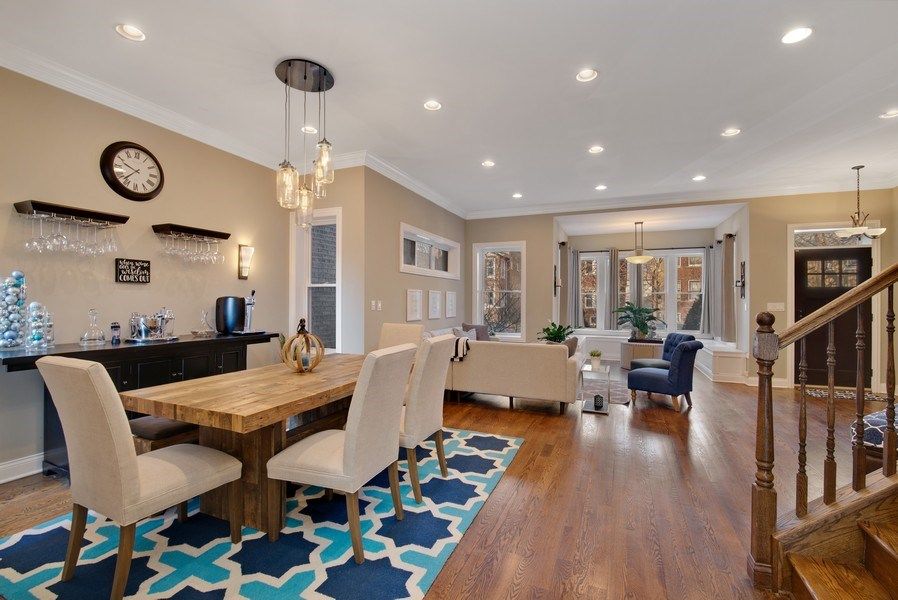 Real Estate Photography - 4825 N Ridgeway Ave, Chicago, IL, 60625 - Living Room / Dining Room