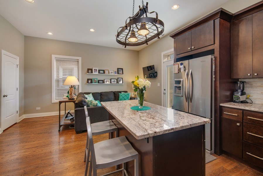 Real Estate Photography - 4825 N Ridgeway Ave, Chicago, IL, 60625 - Family Room / Kitchen