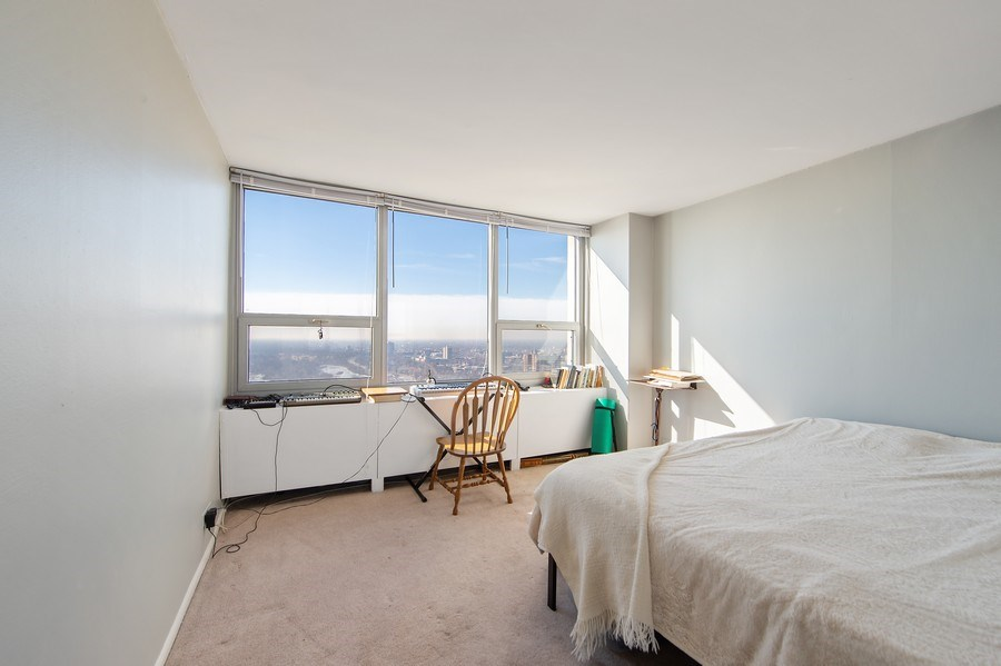 Real Estate Photography - 1700 E 56th St, Unit 3201, Chicago, IL, 60607 - Bedroom