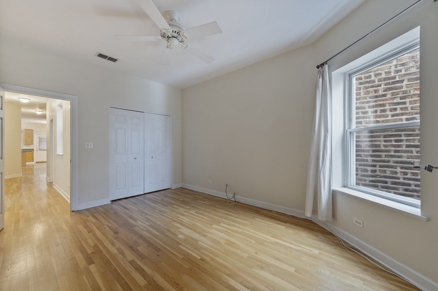 Real Estate Photography - 5529 S Cornell Ave, Unit 3S, Chicago, IL, 60637 - Bedroom