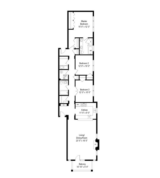 Real Estate Photography - 3924 N Southport, Unit 2 North, Chicago, IL, 60613 - Floor Plan