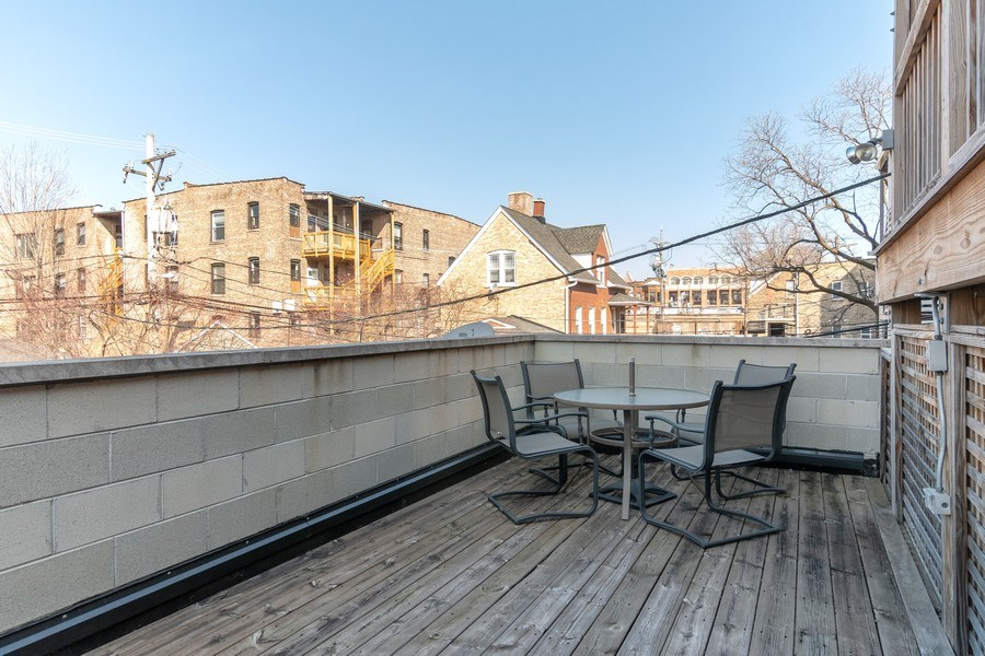 Real Estate Photography - 3924 N Southport, Unit 2 North, Chicago, IL, 60613 - Deck