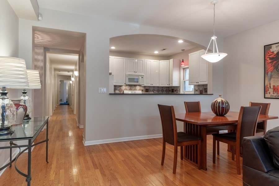 Real Estate Photography - 3924 N Southport, Unit 2 North, Chicago, IL, 60613 - Kitchen/Dining