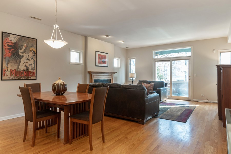 Real Estate Photography - 3924 N Southport, Unit 2 North, Chicago, IL, 60613 - Living Room / Dining Room