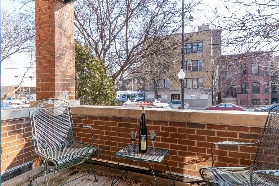 Real Estate Photography - 3924 N Southport, Unit 2 North, Chicago, IL, 60613 - Balcony