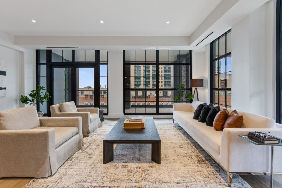 Real Estate Photography - 351 W Huron St, Chicago, IL, 60654 - Living Room