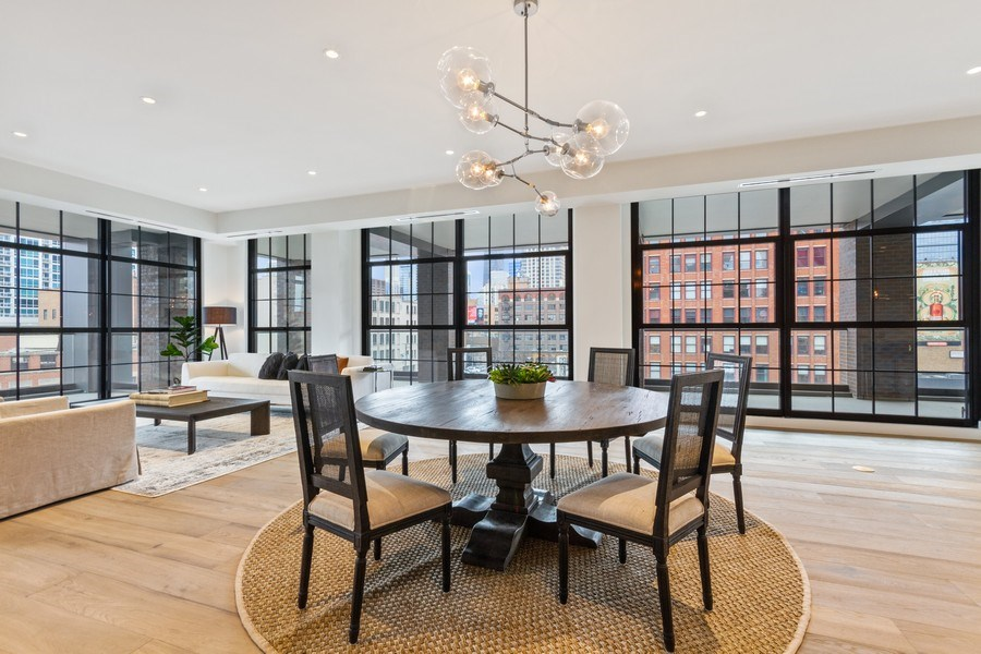 Real Estate Photography - 351 W Huron St, Chicago, IL, 60654 - Dining Room