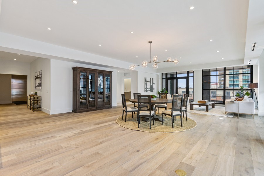 Real Estate Photography - 351 W Huron St, Chicago, IL, 60654 - Living Room / Dining Room