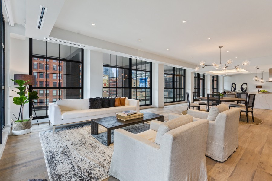 Real Estate Photography - 351 W Huron St, Chicago, IL, 60654 - Living Room/Dining Room