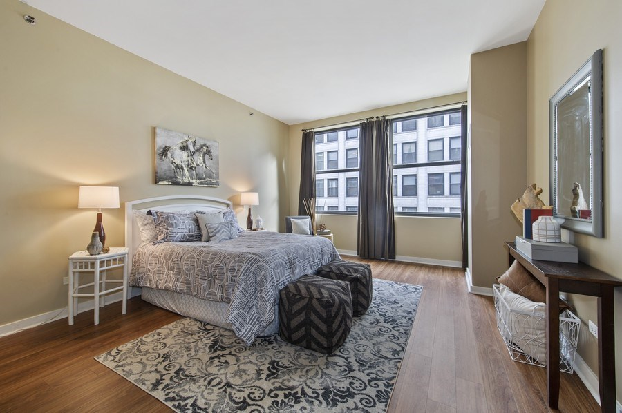 Real Estate Photography - 5 N. Wabash, 1603, Chicago, IL, 60602 - Master Bedroom