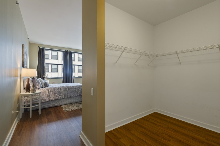 Real Estate Photography - 5 N. Wabash, 1603, Chicago, IL, 60602 - Master Bedroom Closet