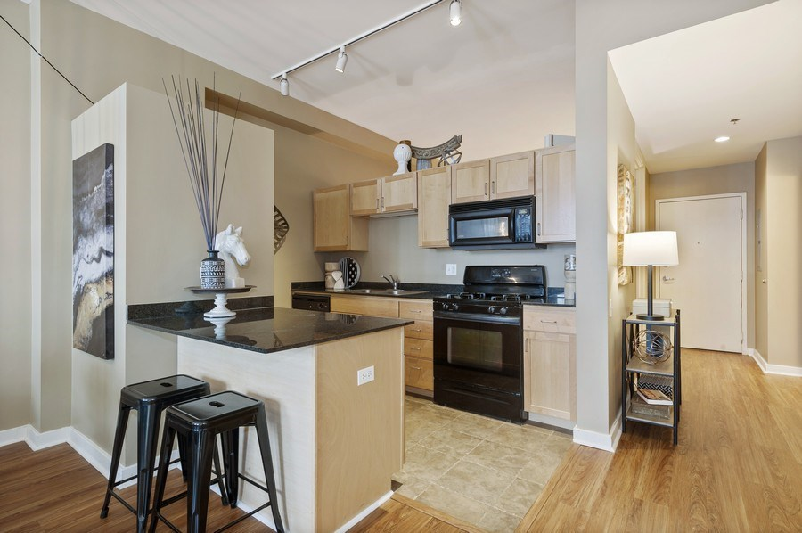 Real Estate Photography - 5 N. Wabash, 1603, Chicago, IL, 60602 - Kitchen
