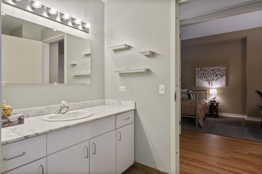 Real Estate Photography - 5 N. Wabash, 1603, Chicago, IL, 60602 - Half Bath