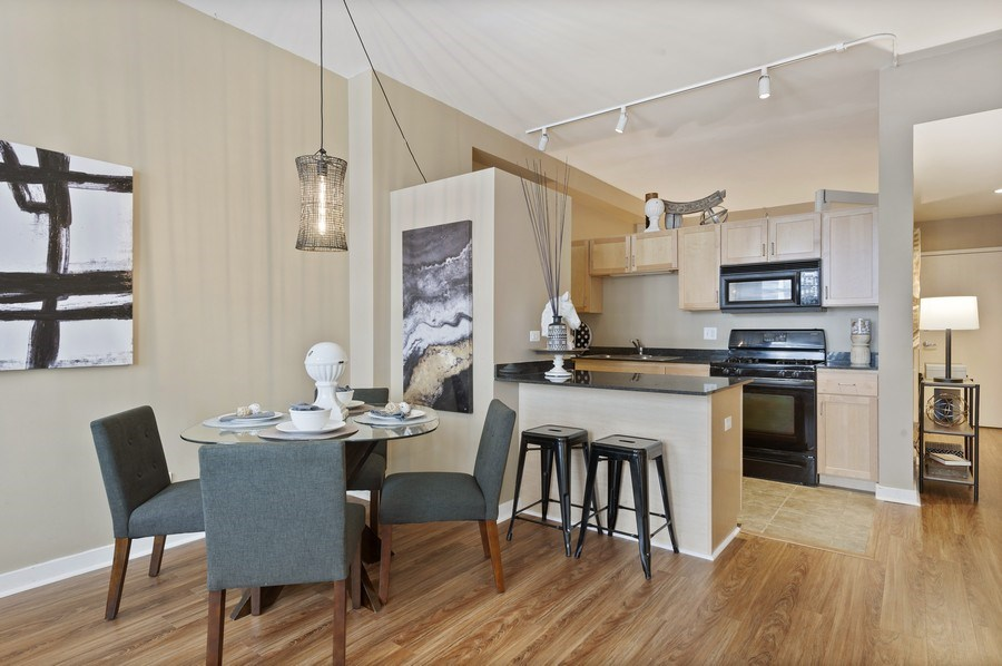 Real Estate Photography - 5 N. Wabash, 1603, Chicago, IL, 60602 - Kitchen/Dining