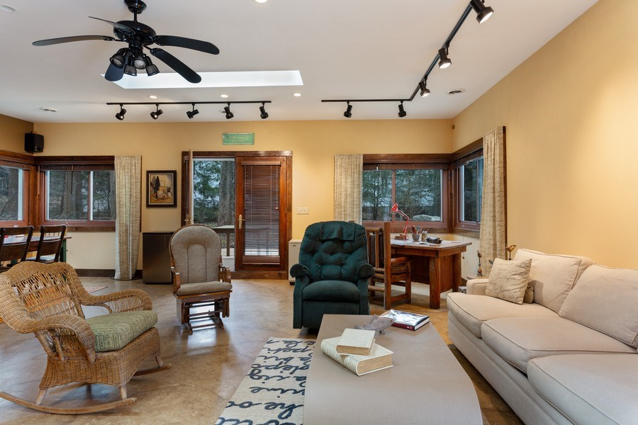 Real Estate Photography - 15157 Lakeshore Road, Lakeside, MI, 49116 - Guest House Living Room