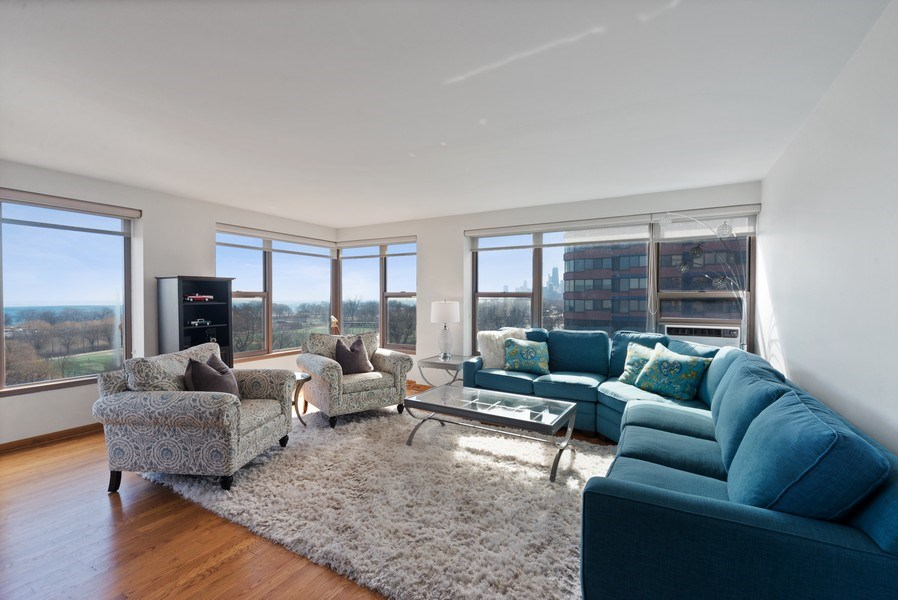 Real Estate Photography - 2970 N. Lake Shore Dr, #9B, Chicago, IL, 60657 - Living Room
