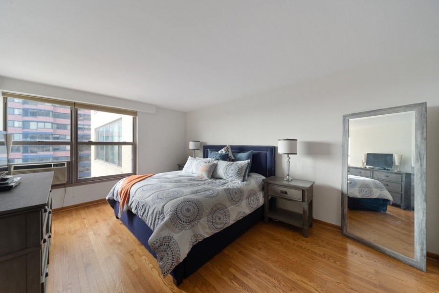 Real Estate Photography - 2970 N. Lake Shore Dr, #9B, Chicago, IL, 60657 - Master Bedroom
