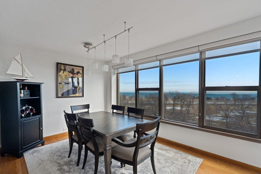 Real Estate Photography - 2970 N. Lake Shore Dr, #9B, Chicago, IL, 60657 - Dining Room
