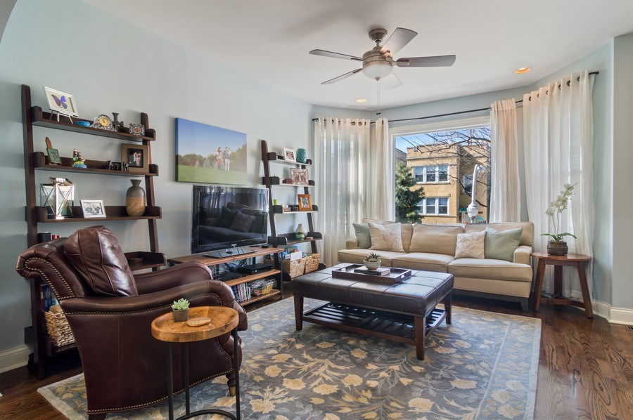 Real Estate Photography - 3943 N. Whipple St., Chicago, IL, 60618 - Living Room