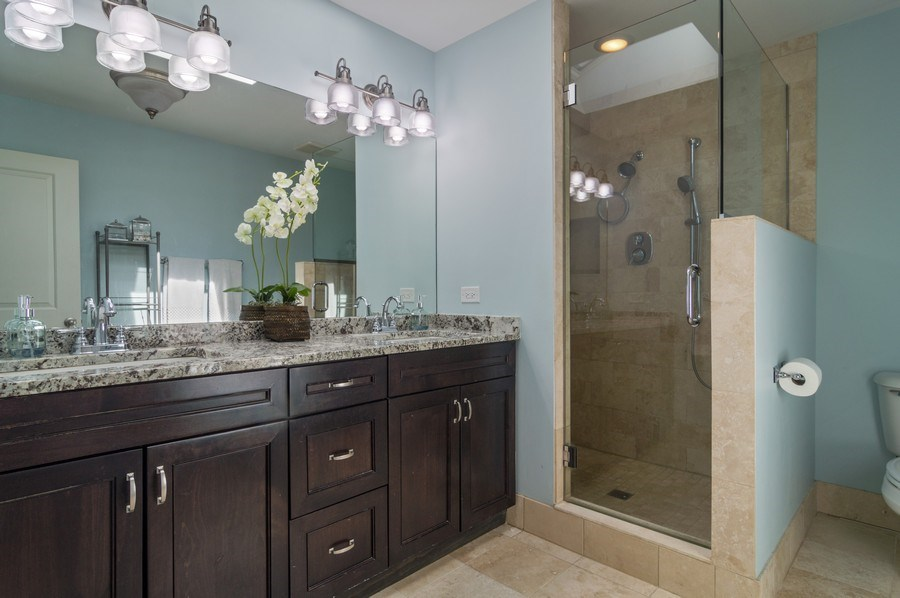 Real Estate Photography - 3943 N. Whipple St., Chicago, IL, 60618 - Master Bathroom