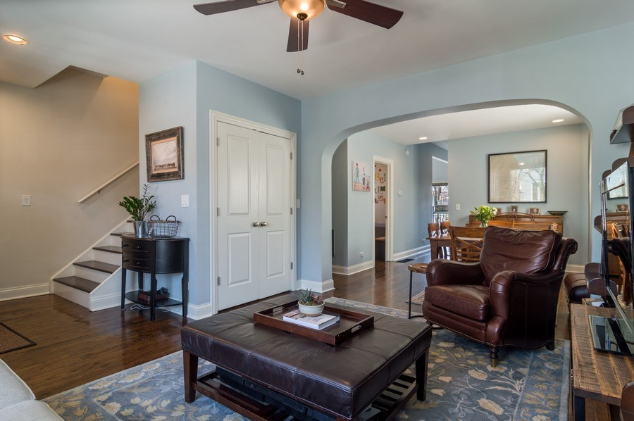 Real Estate Photography - 3943 N. Whipple St., Chicago, IL, 60618 - Foyer/Living Room