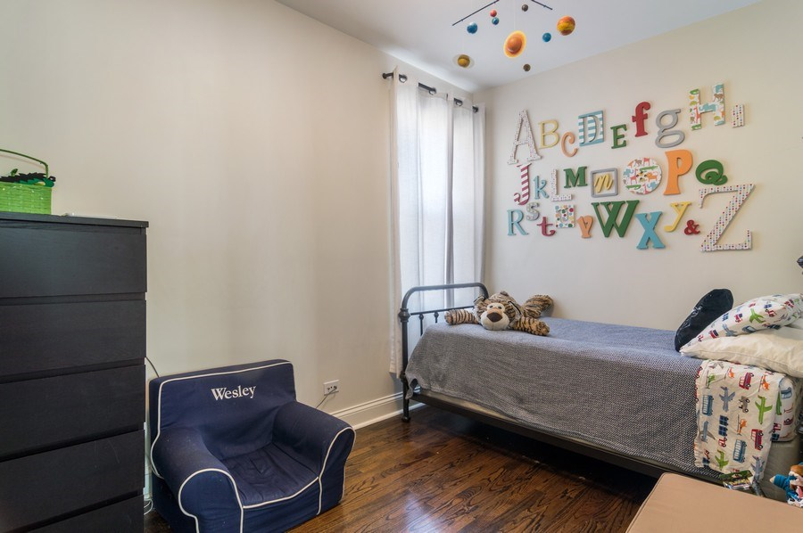 Real Estate Photography - 3943 N. Whipple St., Chicago, IL, 60618 - 2nd Bedroom