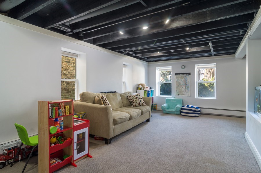 Real Estate Photography - 3943 N. Whipple St., Chicago, IL, 60618 - Lower Level