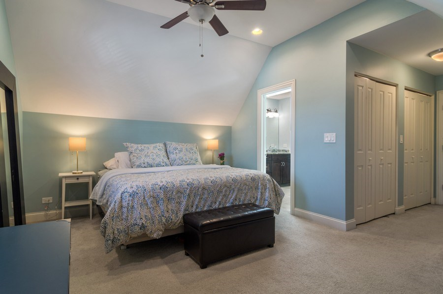 Real Estate Photography - 3943 N. Whipple St., Chicago, IL, 60618 - Master Bedroom