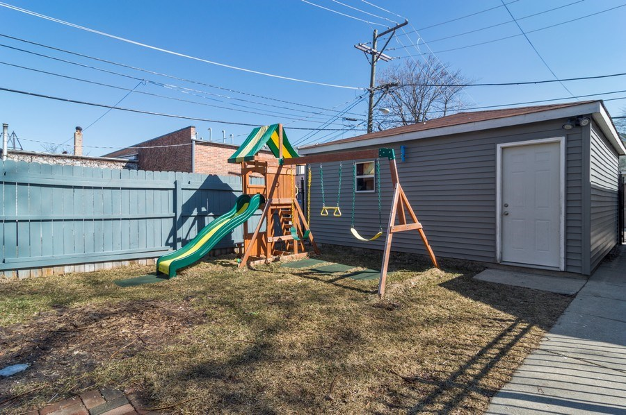 Real Estate Photography - 3943 N. Whipple St., Chicago, IL, 60618 - Back Yard