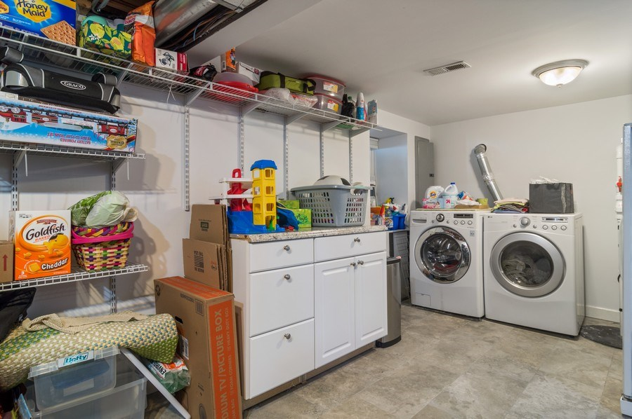 Real Estate Photography - 3943 N. Whipple St., Chicago, IL, 60618 - Laundry Room