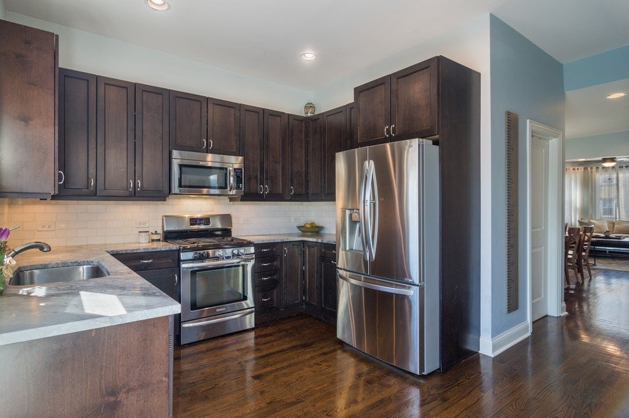 Real Estate Photography - 3943 N. Whipple St., Chicago, IL, 60618 - Kitchen