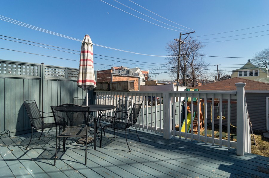 Real Estate Photography - 3943 N. Whipple St., Chicago, IL, 60618 - Deck