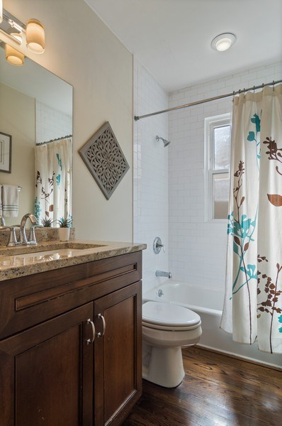 Real Estate Photography - 3943 N. Whipple St., Chicago, IL, 60618 - Bathroom